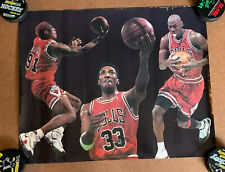 Vintage Chicago Bulls Michael Jordan Poster with Rodman and Pippen