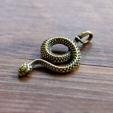 Brass Disc Snakes Shape Key Chain Phone Pendant Tool Zipper Head DIY EDC K-SX6