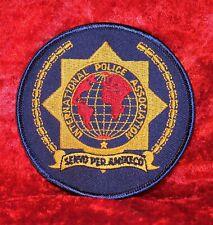 Patch IPA International Police Association 9cm Seidengarnstickerei