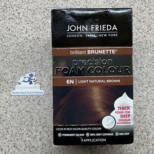 (RY) John Frieda Precision Foam Colour Brilliant Brunette Light Natural Brown 6N