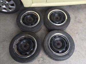 VW BEETLE STEEL WHEEL SET OF 4 195/55/R15