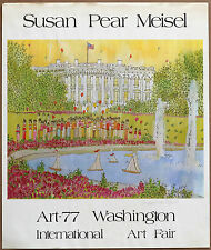 Susan P Meisel International Art Fair Vintage Original Hand signed Poster 1977