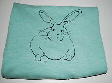 Mossimo Womens Sweater XXL Plus Size Mint Green Bunny Rabbit Easter Crewneck NWT