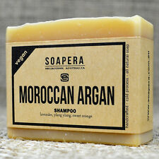 1 x MOROCCAN ARGAN SHAMPOO Bar for all types of hair - all natural handmade soap