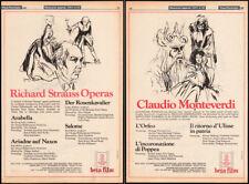 Richard Strauss Operas_/_Claudio Monteverdi_Orig. 1980 Trade Ad promo / poster