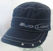 Bud Light Fitted Hat Cap Distressed Advertising A14