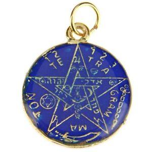 Pentagram Star Pendant Tetragrammaton Medal Double Sided Santa Muerte Medalla