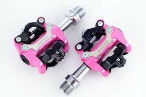 NEW WELLGO M250 MTB BIKE CLIPLESS PEDALS SHIMANO SPD COMPATIBLE Cleat 98A Pink