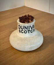 Duniva Scotch Whisky Vintage Advertising Match Striker/ Match Holder