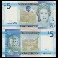 Jersey 5 Pounds, ND(2010), P-33, UNC, Banknotes, Original