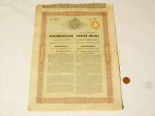 More details for 1880 hungarian loan share bonds no. 2448 7 coupons left #s28 *