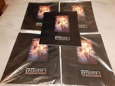 More details for 4 x sealed star wars 1999 phantom menace cinema film programme book liam neeson