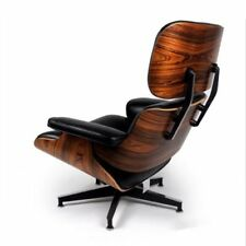 Classic Eames Style Lounge Chair and Ottoman Palisander Plywood  Black Rosewood