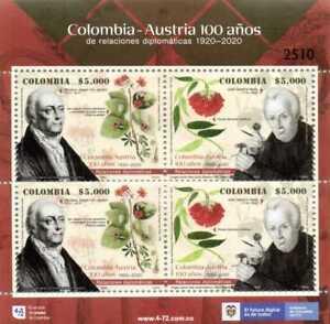 RA) 2020, COLOMBIA, AUSTRIA, FLOWERS, DIPLOMATIC RELATIONS, JOSE CELESTINO