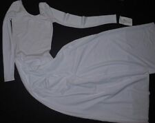 NWT White Lng Sleeve Wide Leg Jumpsuit Praise Dance Liturgical Ladies Plus 2X