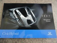 2007  Honda Civic  Hybrid NAVIGATION Owners Manual