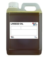 Linseed Oil 100% PURE Cold Pressed Linseed Oil Wood Treatment ORGANIC 2 Litres