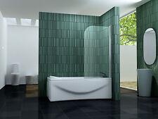 80 x 140 ONE Glas Badewannen Faltwand Duschwand Duschabtrennung Dusche Duschwand