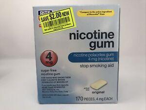 Rite Aid Nicotine Gum 4mg Original Flavor 170 Pieces Exp 02/21 Sugar Free