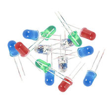 100 Pcs 5mm Red Green White Blue LED Light Emitting Diodes DC 2.5V-3V