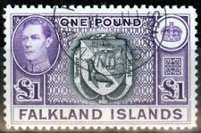 Falkland Is 1938 Black & Violet SG163 V.F.U (1)