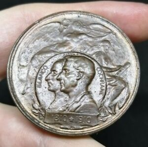 Chile Rare Bronze Medal Blanco Cochrane 1810-1910 Navy Centenary Great Condition