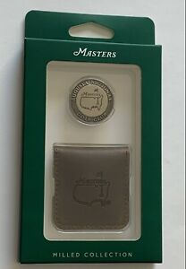 Masters milled ball marker coin with case augusta national golf new 2021 pga
