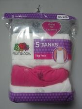 Fruit of the loom Youth Girls' 5-Pack Tanks Multi-Color Size L