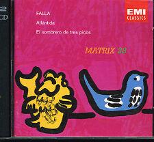 CD album: Manuel de Falla: atlantida. matrix 28. EMI 2CDs. A