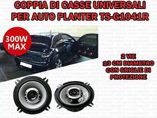 COPPIA CASSE UNIVERSALI PER AUTO 300W DIAM 13 CM 2 VIE WOOFER TUNING CON GRIGLIE