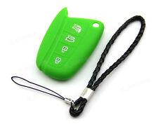 Green Silicone Case Cover For Hyundai Santa Fe IX45 Remote Smart Key 4 Button NE