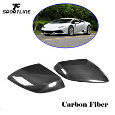 For Lamborghini Huracan LP610 2014-2018 Mirror Cover Cap 2PCS Carbon Fiber