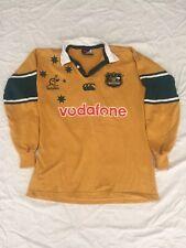 Vintage 1999-2000 Australian Wallabies Rugby Union CCC Vodafone Jersey Size M