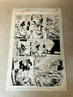 PUNISHER summer special ORIGINAL ART eye gouge cattle prod COLONEL DE SADE