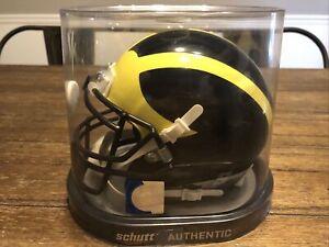 MICHIGAN WOLVERINES NCAA Schutt XP Authentic MINI Football Helmet