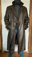 Ledermantel VEB Freiberger Lederbekleidung Mantel braun leather coat GDR