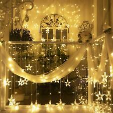 LED Star String Lights - Star Curtain String Lights with 12 Stars 108 LEDs 8 Mod