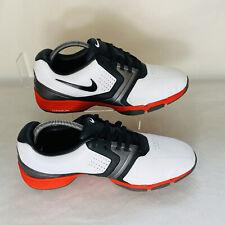 Nike Lunarlon Golf Shoes For Men Size 9.5 UK/ 44.5 EU/ 10.5 US Red White Black