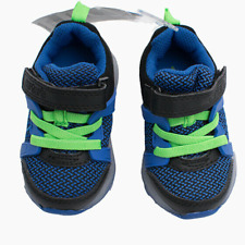 New Carter's Baby Boys Light Up Sneakers Shoes Size 4 Blue MSRP $40.00