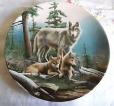 First Outing Plate Coa Call Of The Wilderness Devoted To The Gray Wolf