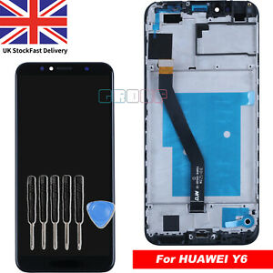 For Huawei Y6 2018 LCD Touch Screen Display Black ATU-L11 L21 Digitizer + Frame