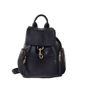 TOPSHOP Backpack PU Leather Crumpled Effect Slouchy Design Drawstring