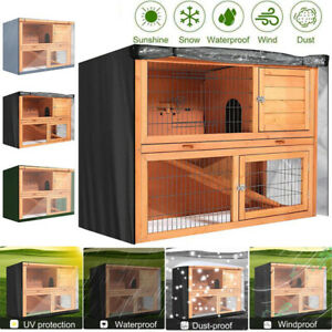 4FT Double Decker Rabbit Hutch Cover Pet Bunny Cage Protector Dustcover