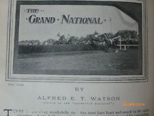 Grand National Steeplechase Old Antique Photo Article 1904 Horseracing Aintree