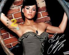 "Alicia Keys Signed 10""x 8"" Color PHOTO! REPRINT"