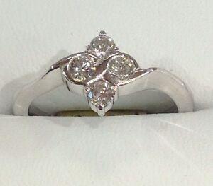 Platinum .45ct Diamond Cluster Ring
