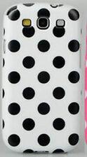 For Samsung Galaxy S3 - Polka Dot Case / Cover - Black & White.
