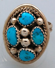 Navajo Sterling Silver with Turquoise Ring Size 6 1/2