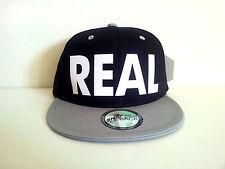 REAL (FLOCK) Black/GreySnapback Cap