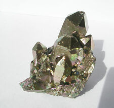 Gold Rainbow Titanium Aura Crystal 64g
